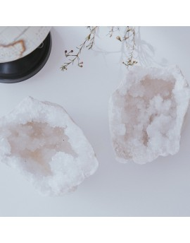 Geodas de cuarzo blanco tamaño mediano