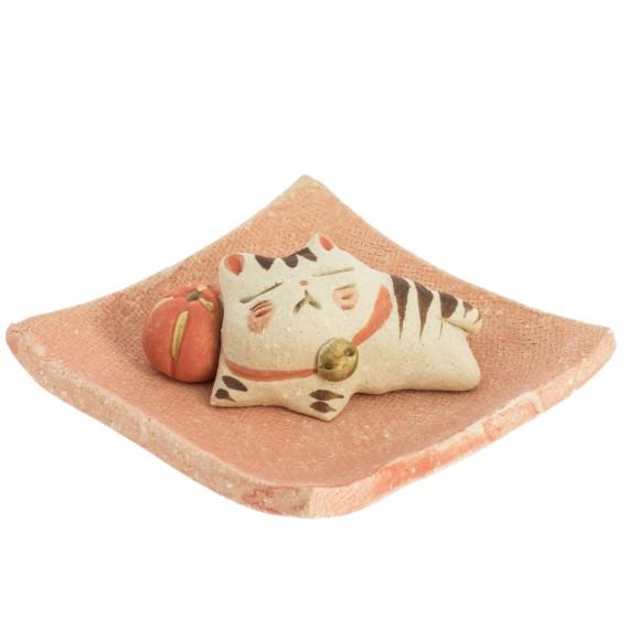 Incensario japonés Gatito
