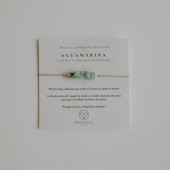 Pulsera Magic Gems - Aguamarina