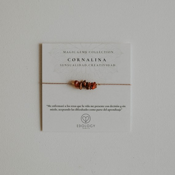 Pulsera Magic Gems - Cornalina