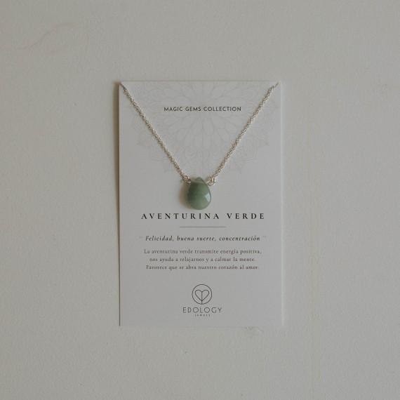 Colgante Lágrima Magic Gems - Aventurina verde