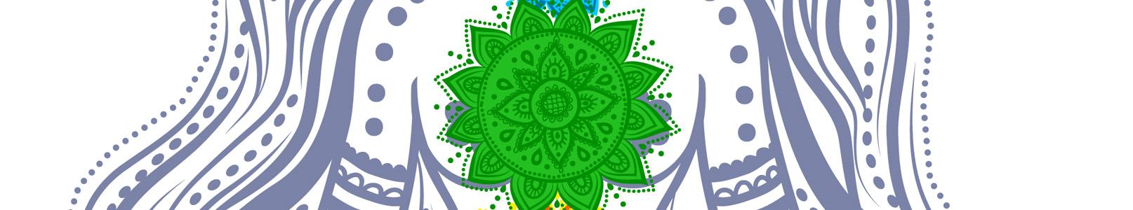 Chakra 4 Verde y Rosa